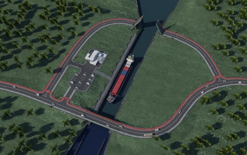Projekt +Ťluzy i most+-w